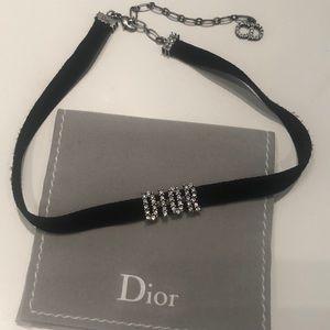 Black Dior velvet choker